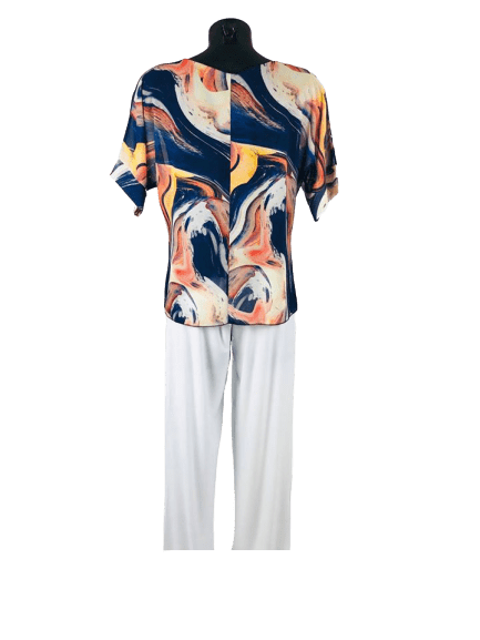 Load image into Gallery viewer, Ladies Short Sleeved Top | Tie Front |Summer Top - mapuchi moda