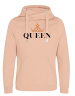 QUEEN | Unisex   | Cross Neck Hoodie  |   WOMENS   | NUDE   | 70% ring spun cotton 30% polyester