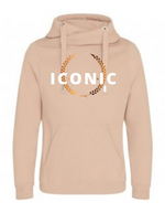 ICONIC   | Unisex   | Cross Neck Hoodie  | Nude   | 70% ring spun cotton 30% polyester