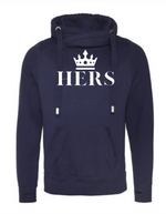 HERS Hoodie  |  Cross Neck Hoodie  |  Oxford Navy  | 70% ring spun cotton 30% polyester