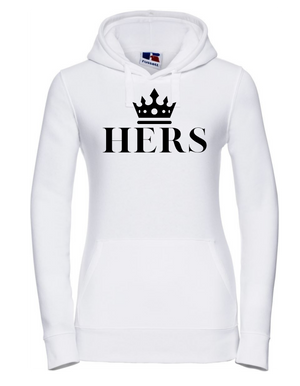 Lady-Fit Hoodie  |  HERS  | 80% ring spun combed cotton 20% poly   |  VINYL TEXT