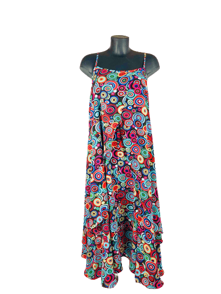Load image into Gallery viewer, Ladies Summer Dress, Vintage Style | Adjustable spaghetti straps - mapuchi moda