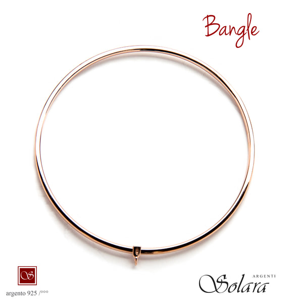 Bracciale BANGLE - ROSE' 925/°°° - mm.70