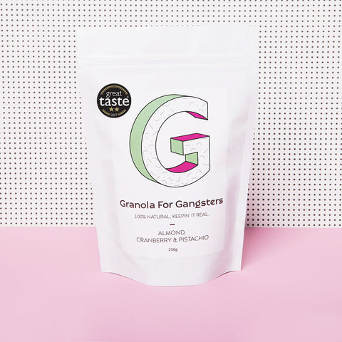 Bag of Granola for Gangsters - almond, cranberry and pistachio