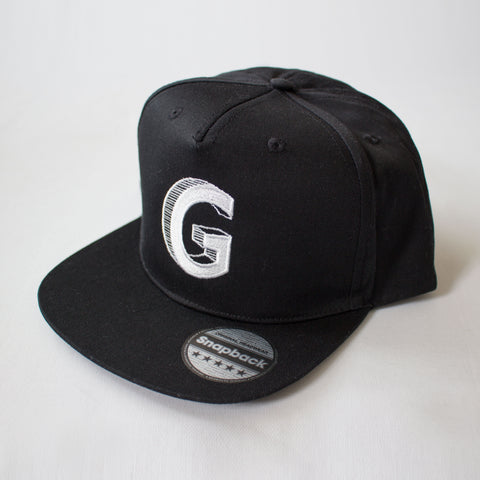 Granola for Gangsters black snapback G cap on white background
