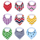 100% Organic Cotton, Soft and Absorbent Baby Bandana Drool Bibs Unisex 9-Pack