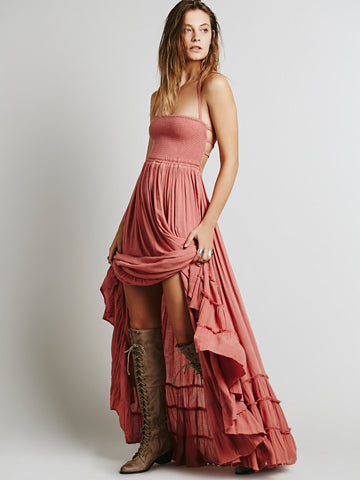 BACKLESS HIPPIE PARTY DRESS