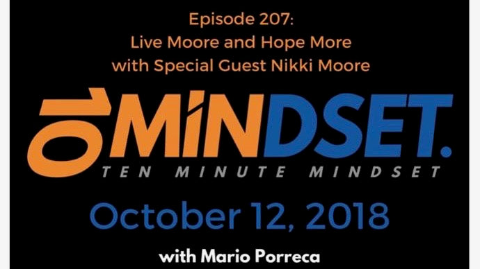 Live Moore on Ten Minute Mindset