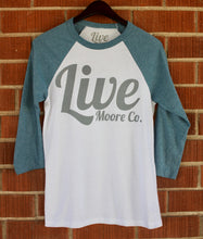Denim Baseball Live Moore Tee