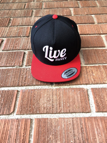 Red Snapback Live Moore Hat