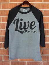 Black & Grey Baseball Live Moore Tee