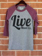 Maroon & Grey Baseball Tee