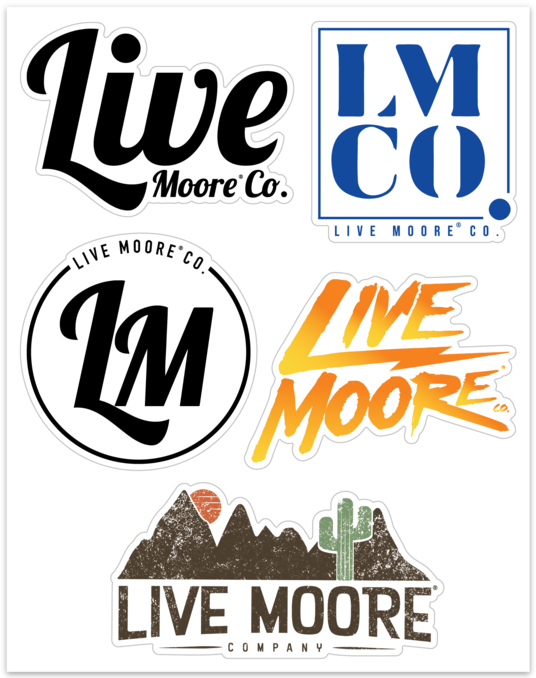 *NEW* Live Moore Co. Sticker Collection
