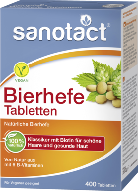 Brewer's yeast tablets, 400 tablets - Sanotact
