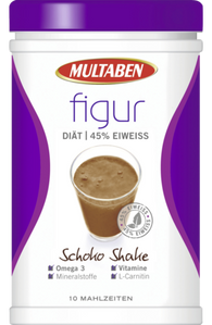 Protein Diet Shake Chocolate, 430 g - Multaben