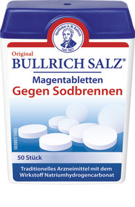 Salt magenta tablets against heartburn, 50 Tablets - Bullrichs
