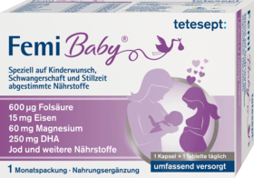 During pregnancy, breastfeeding and wish for children Tablets & Soft Capsules, 1 Month package - Tetesept