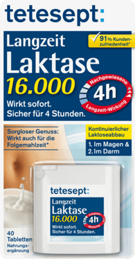 Long-time Lactase 16,000FCC, 40 tablets - Tetesept
