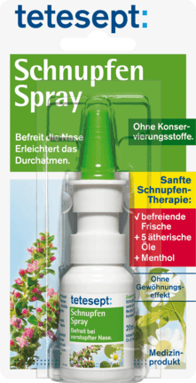 Anti cold nose Spray with essential oils, 20 ml - Tetesept