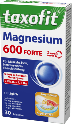 Magnesium 600 Forte Depot Tablets, 30 Tablets - Taxofit