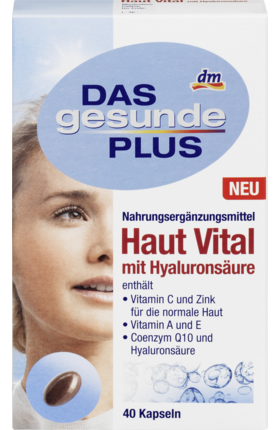 Skin vital with hyaluronic acid capsules, 40 pcs