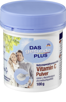Vitamin C powder, 100 g - Das Gesunde Plus