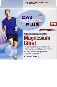 Magnesium citrate, bag of 6.0 g, 20 bags - Das gesunde Plus
