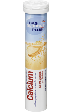 Calcium fizzy tablets, 20 tablets - Das gesunde Plus