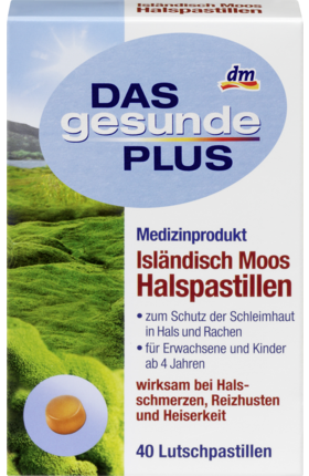 Iceland Moss Throath lozenges, 40 lozenges - Das gesunde Plus
