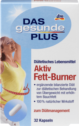 Active fat Burner, 32 capsules - Das gesunde Plus