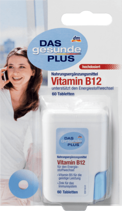 Vitamin B12 tablets, 60 tablets - Das gesunde Plus
