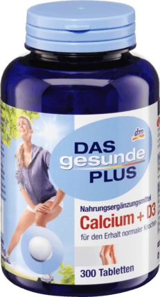 Calcium + D3 tablets, 300 tablets - Das gesunde Plus