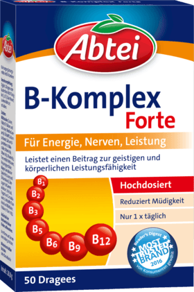 Vitamin B Complex Forte Dragees, 50 Dragees - Abtei