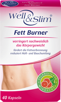 Fat Burner Capsules, 40 Capsules - Well & Slim