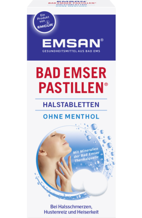 Bad Emser Throat lozenges without menthol, 30 Tablets - Emsan
