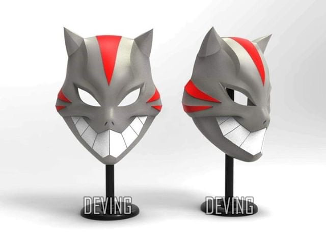 Young Justice Cheshire Facemask available now!
