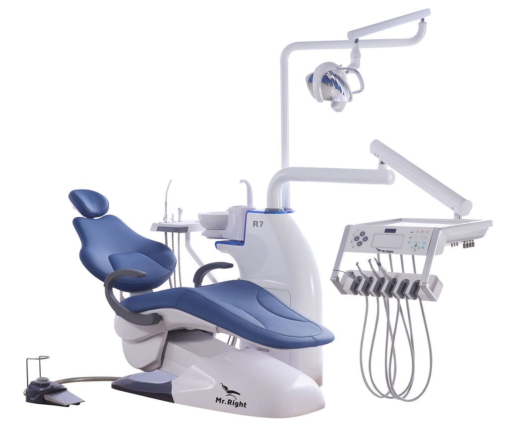 R7 Dental chair with operating unit, built for extreme patients and dentists comfort.