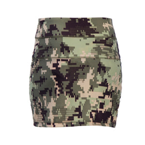 Camo Pencil Skirt with Built In Shorts