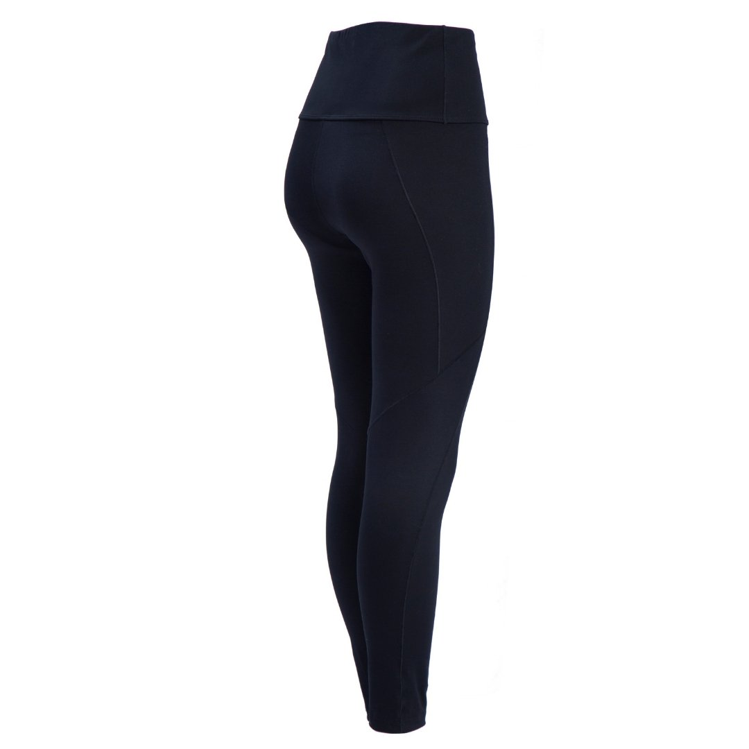 full length view of black concealed carry leggings