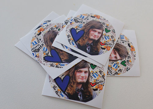 Teen Heartthrob Luke Van Osch Stickers