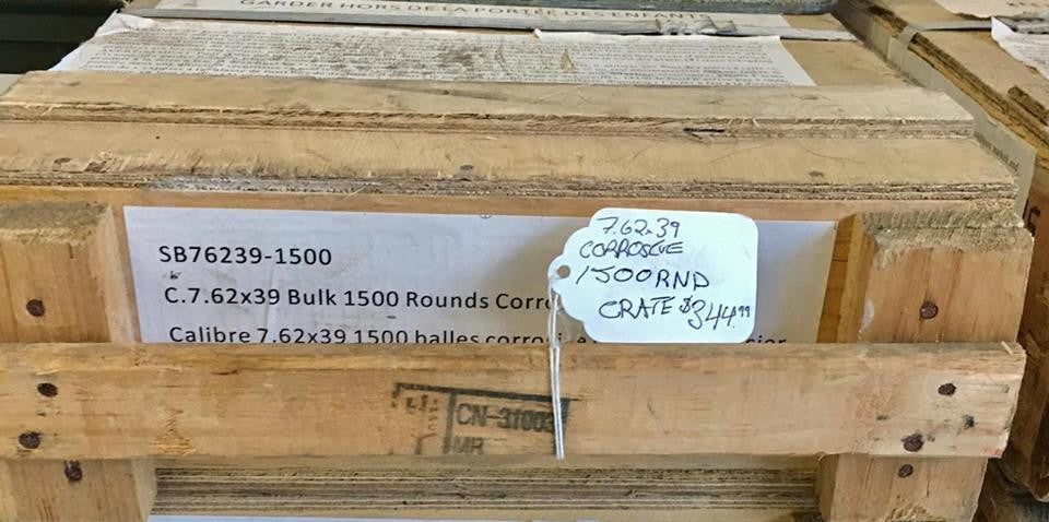 1500RNDs of Corrosive 7.62x39 123GRN, FMJ Surplus Ammo