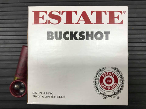 "Estate 12ga 2-3/4"" 00 Buckshot (9 Pellets) Box of 25"
