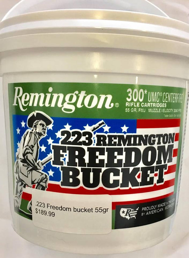 Remington Freedom Bucket .223 Rem 55GRN FMJ, 300RNDs