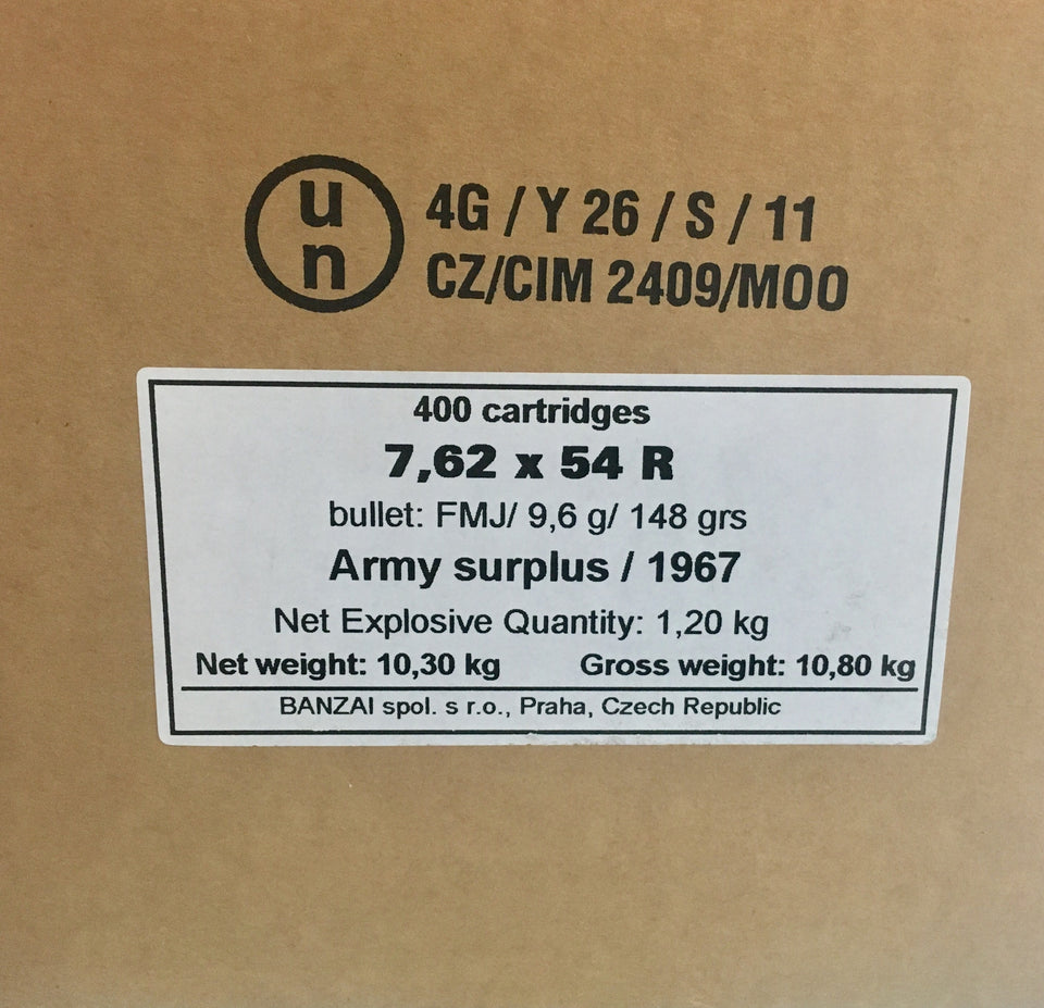 400RNDs of 7.62x54R Corrosive Surplus