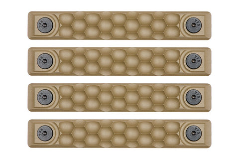 RailScales High Temp Polymer Rail Cover FDE Honeycomb