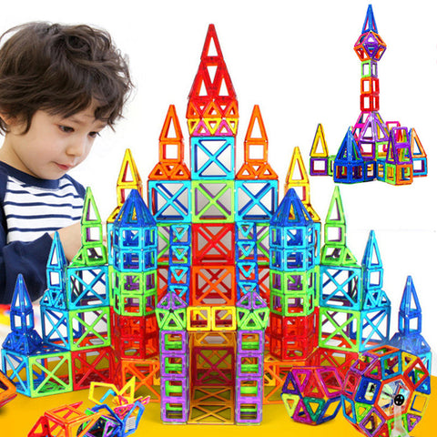 128pcs Mini Magnetic Designer Construction Set
