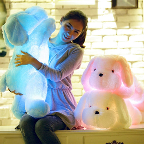 Night Light LED Lovely Dog Stuffed and Plush Night Light LED