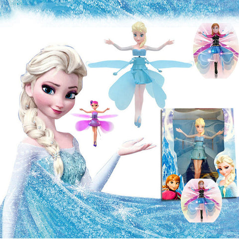 Princess Flying Fairy Elsa -Electronic Interactive Light Up Doll