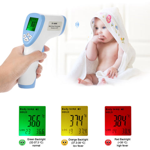 Digital Thermometer Infrared Baby Non-contact Forehead Infrared Thermometer With LCD Back light