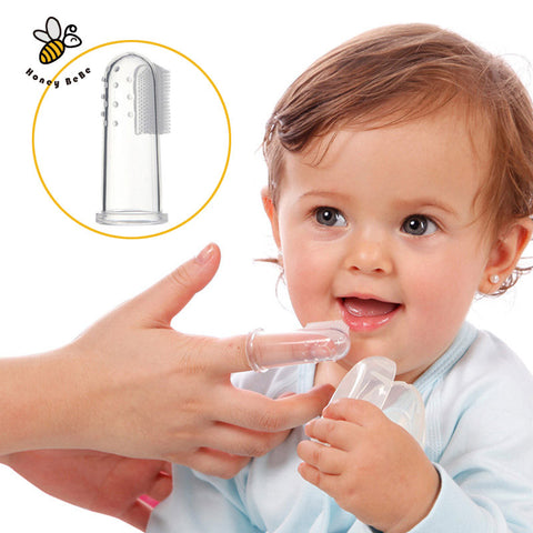 Baby Kids Silicone Finger Toothbrush
